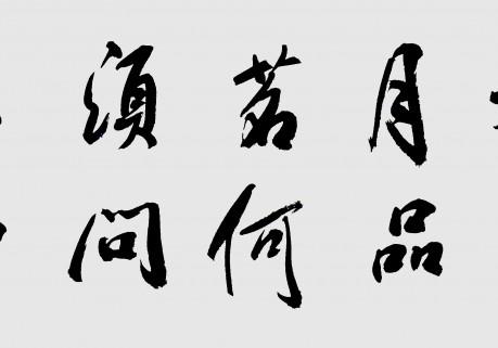 笑琰—六尺长条行书作品