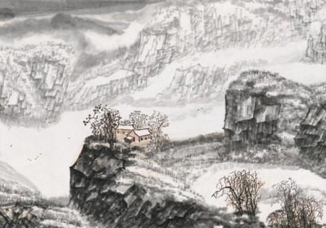著名书画家吴景晨先生山水作品欣赏